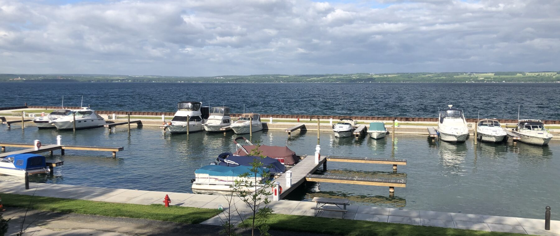 Samsen Marina Seneca Lake from Cabins