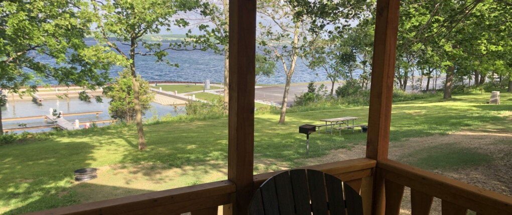 Samsen cabin view from porch