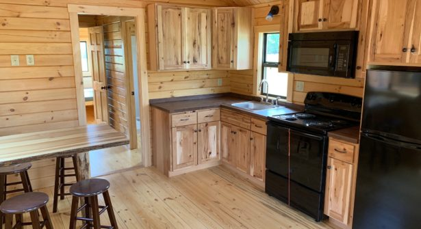New cabins with modern kitchen at Sampson State Park