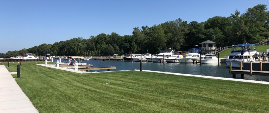 Docks and Office at Samsen Marina on Seneca Lake