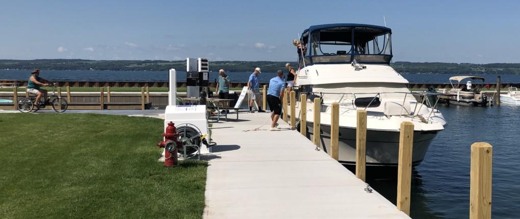 Fuel Station at Samsen Marina on Seneca Lake