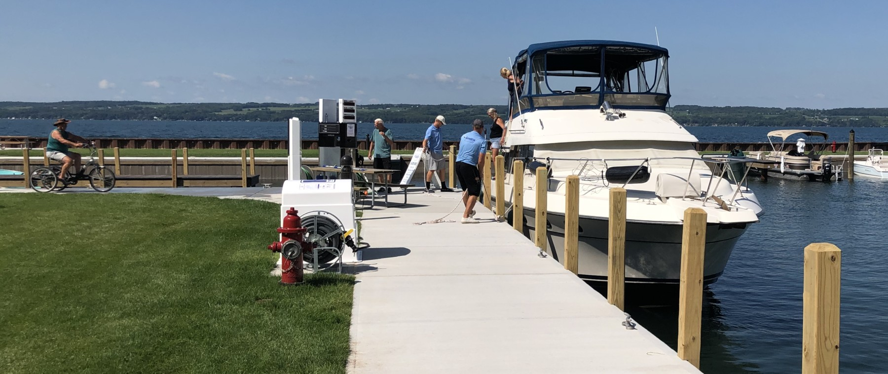 Fuel Station at Samsen Marina on Seneca Lake