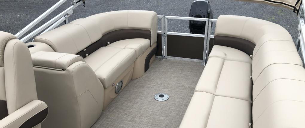 Samsen Pontoon Boat Rental Interior Rear