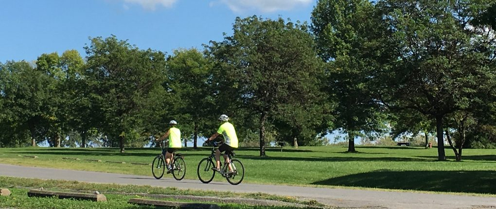Sampson State Park offers many opportunities for recreational activities including biking