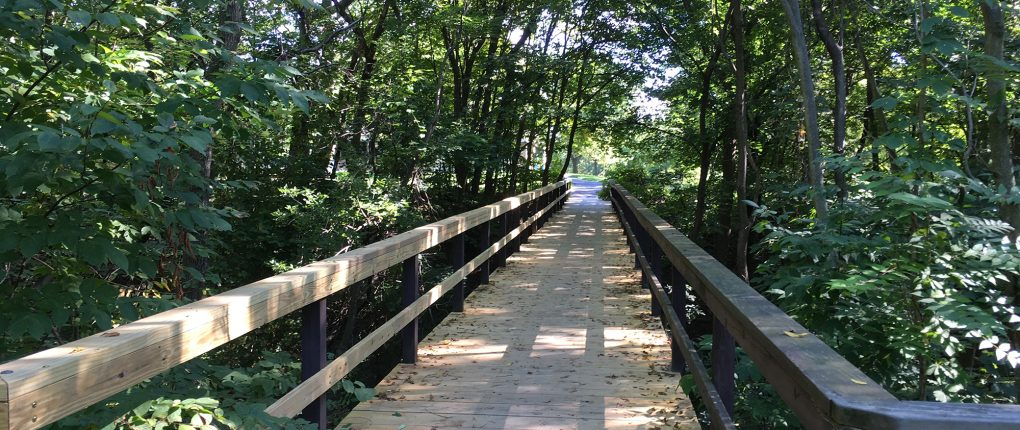 Sampson State Park bridge to campsites