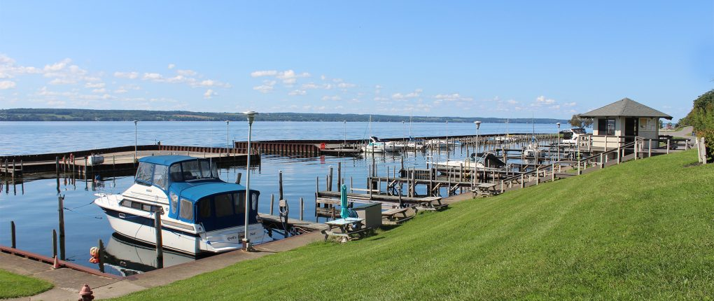 Sampson State Park Marina looking north