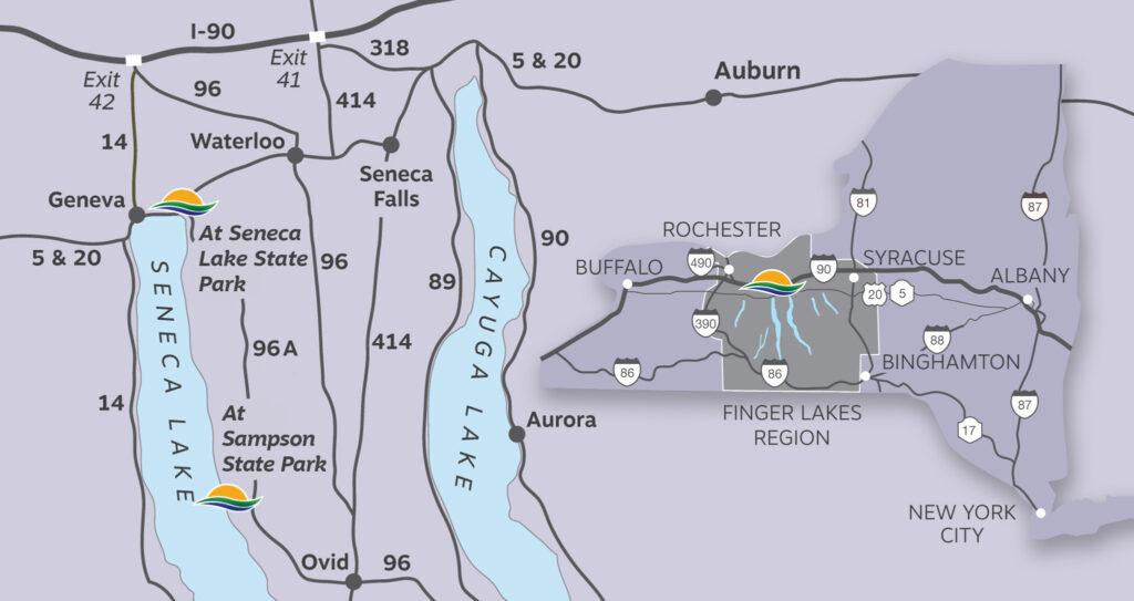 Seneca Lake Resorts Location Map